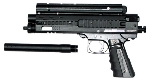 Paintball Marker Pistol War Sensor Zeus G-2 -Black